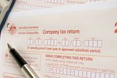 Completing an Australian annual company tax return concept poster