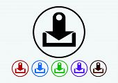 an images of  Download icon and Upload symbol button poster