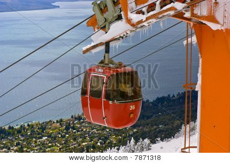 Cable Railway By A Lake