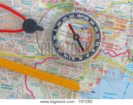 Orienteering on a map