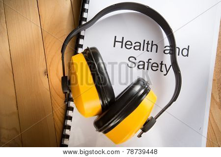 Health And Safety Register With Earphones