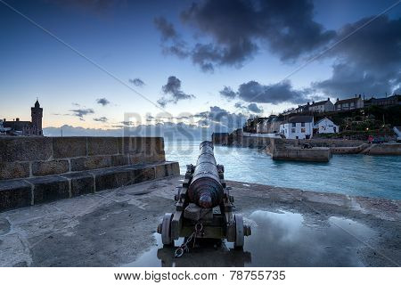 Porthleven Harbour In Cornwall