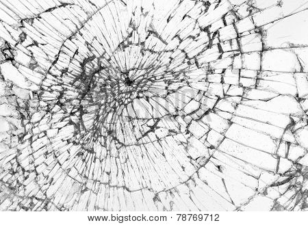 Broken Glass, White Background