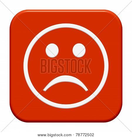 Isolated Button: Unhappy face