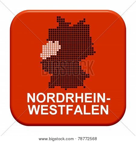 Red Button: German Region Nordrhein-westfalen