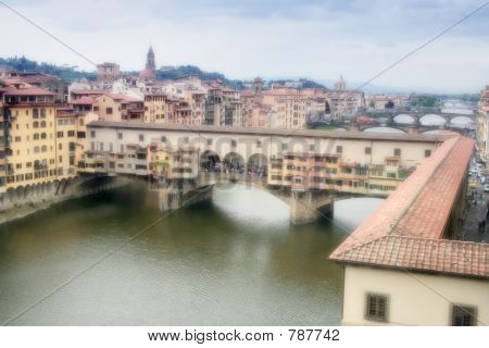 Ponte Vecchio under sun