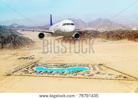 Passenger Airliner Took Off Over The Egyptian Resort Of Sharm El-sheikh