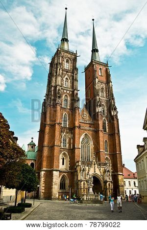 Cathedral In Ostrow Tumski In Wroclaw