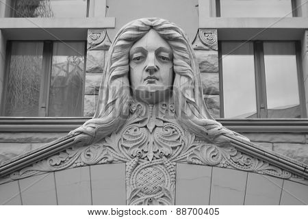 Fragment Of Art Nouveau Building In Riga.