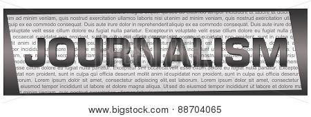 Journalism Grey Text Horizontal