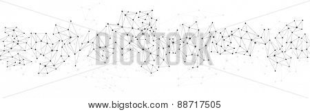 Communication social mesh. Network polygonal background. Vector illustration.