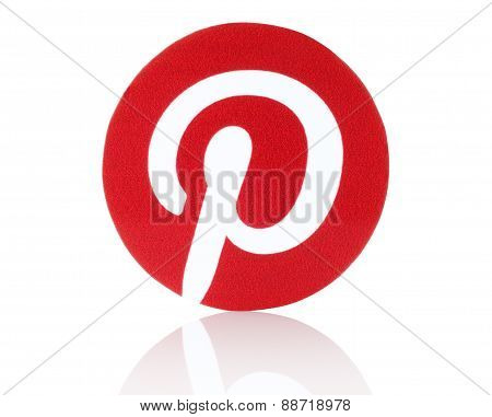 KIEV UKRAINE - FEBRUARY 19 2015:Pinterest logotype