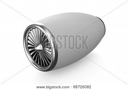 White Jet Engine