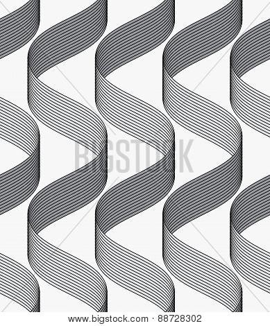 Ribbons Making Waves Pattern