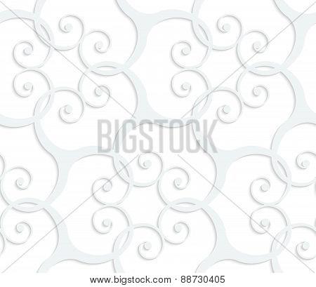 3D White Swirls Grid