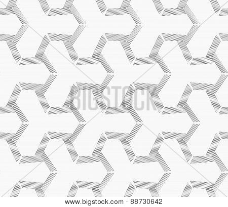 Gray Dotted Offset Tetrapods