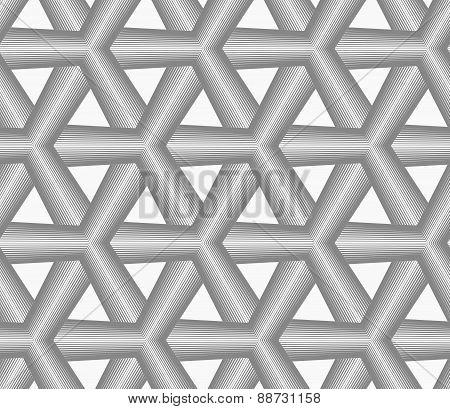 Monochrome Gray Striped Tetrapods