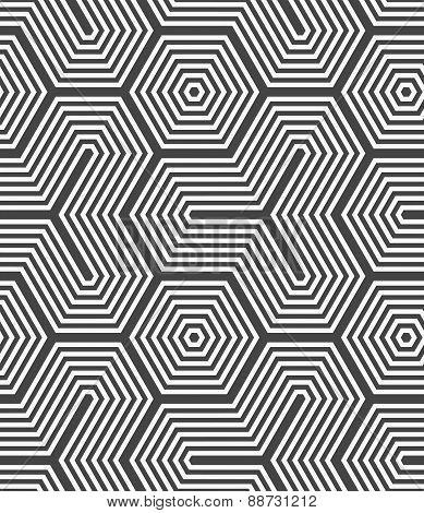 Monochrome Hexagons And Tetrapods