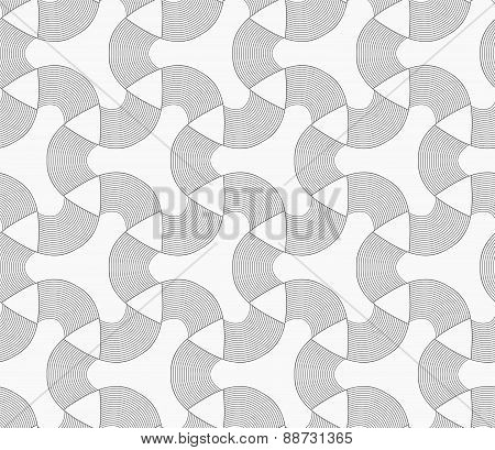 Monochrome Tetrapods With Striped Rounded Corners