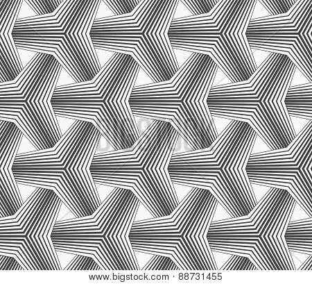 Slim Gray Halftone Striped Tetrapods
