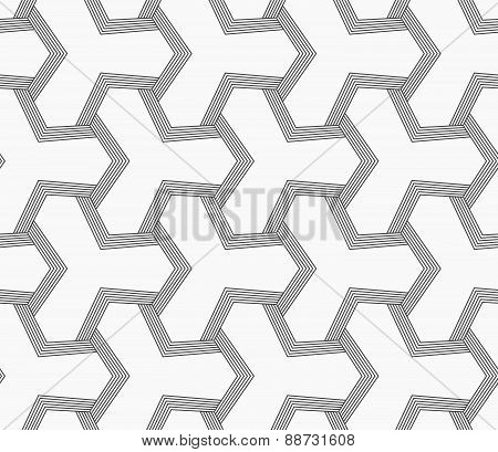 Slim Gray Tetrapods With Striped Bevel