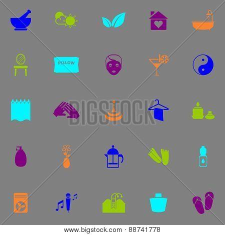 Massage Fluorescent Color Icons