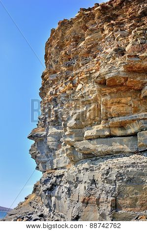 Yellow Cliff Of Sandstone