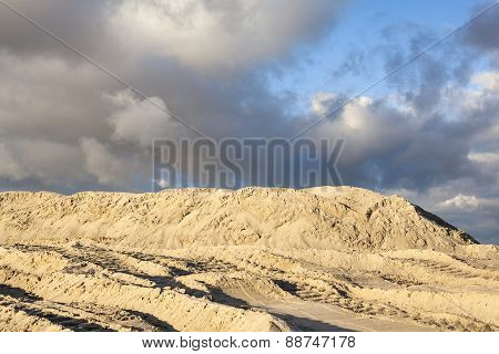 Piles Of Sand With Traces