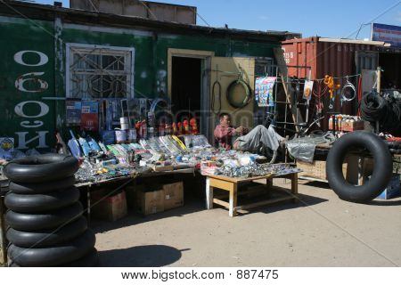 Lazy Seller At Market
