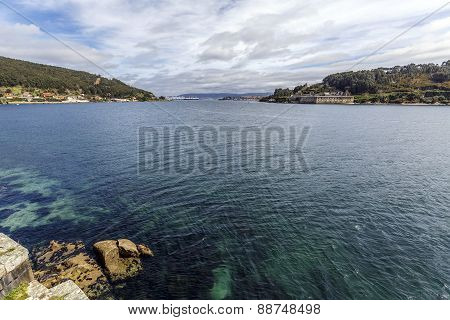 Panoramic View Of El Ferrol Spain