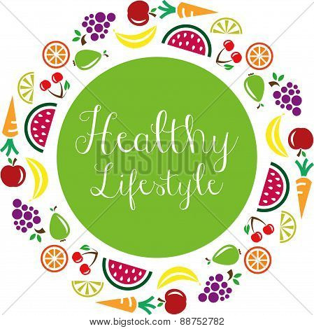 healthy lifestyle vector symbol