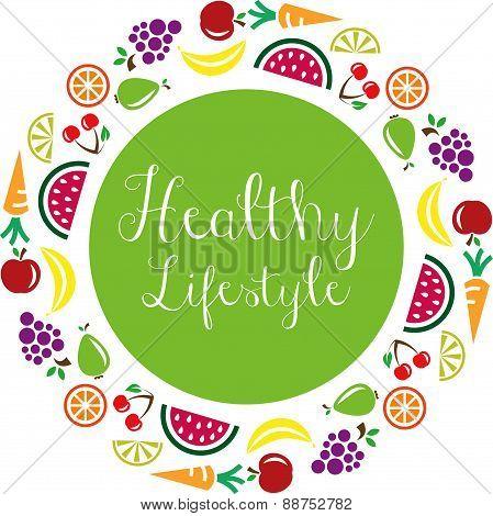 healthy lifestyle vector symbol
