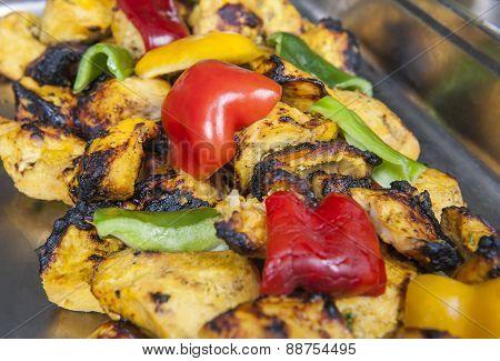 Chicken Reshmi Kebab At An Indian Restaurant