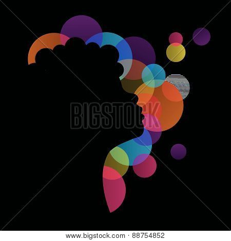 dark girl vector silhouette