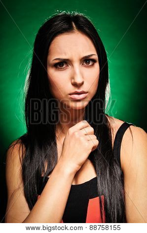 Emotional, Expressive Girl