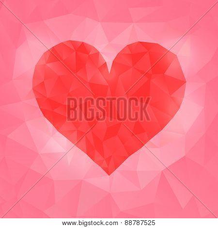 Vector Illustration Of Polygonal Heart
