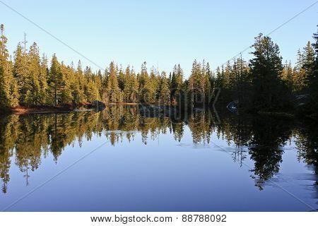 Small lake in the taiga region.