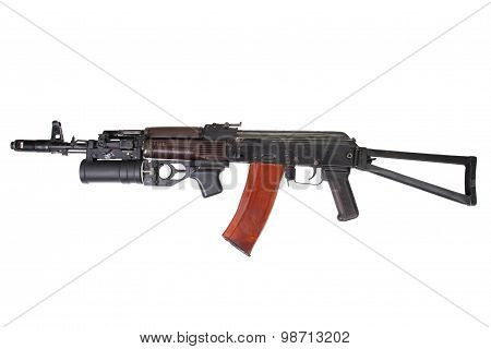 submachine gun MP5 isolated on white background poster