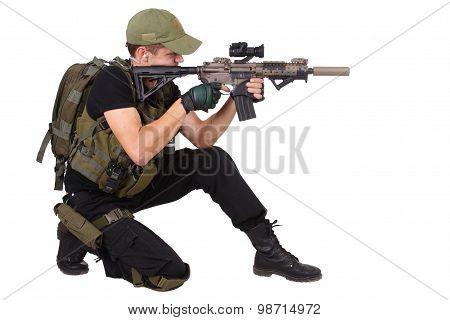 Rifleman With M4 Carbine