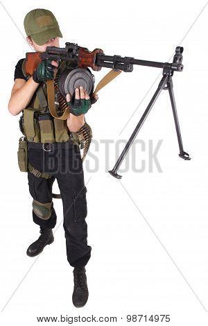 Gunner With Rpd Gun
