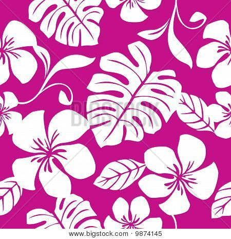 Seamless Tropical Pink Bikini Pattern