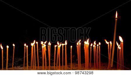 Burning Religious Candles