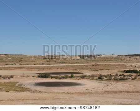 An Australian golf course in the outback