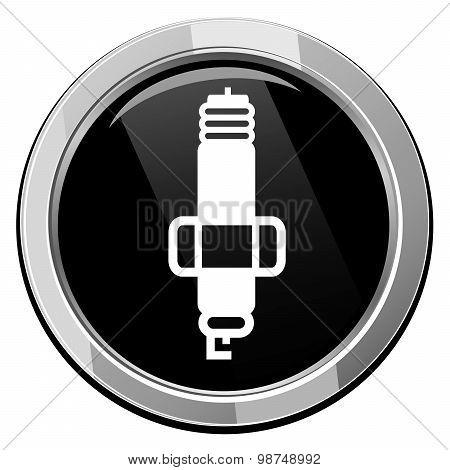 Sparkplug Single Round Icon.