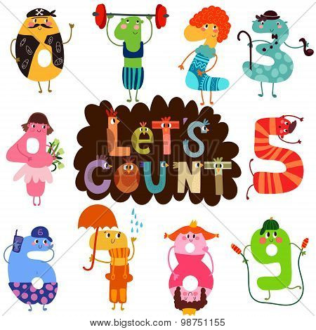 Let's Count- Learn To Count Numbers Funny Cartoon