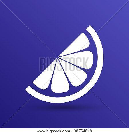 vector logo element in orange slice vitamins