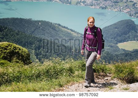 Woman Hiking In Austria - Schafberg