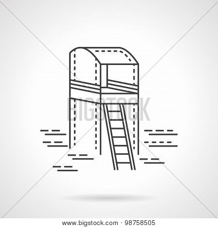 Observation tower line vector icon