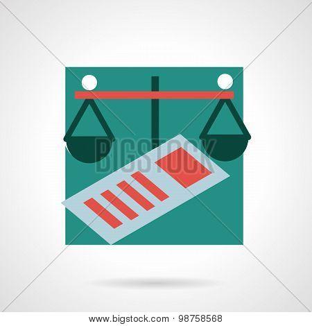 Finance flat vector icon
