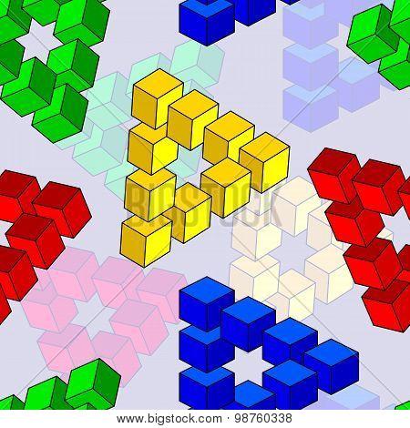 abstract optical illusion, seamless wallpaper, vector illustrati